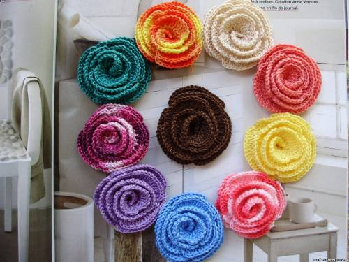 Цветы вязаные крючком цветы автор http
