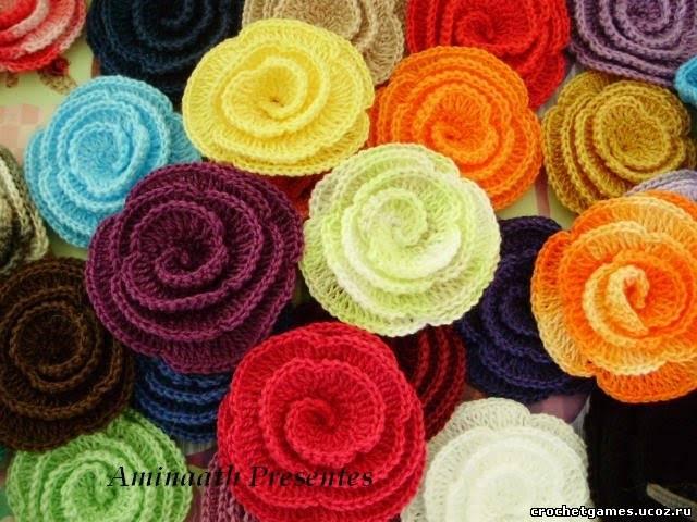 Описание: цветы вязаные крючком со схемами бесплатно. вязаные цветы...